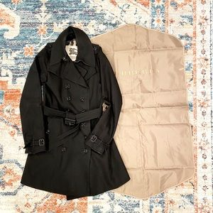 $1200 Burberry black double breasted trench coat
